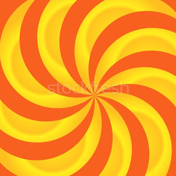 Sunburst rays of orange and yellow swirls Stock photo © toots