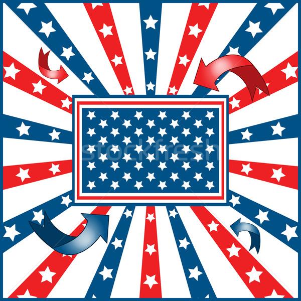 Stockfoto: Amerikaanse · vlag · sterren · Rood · vrijheid