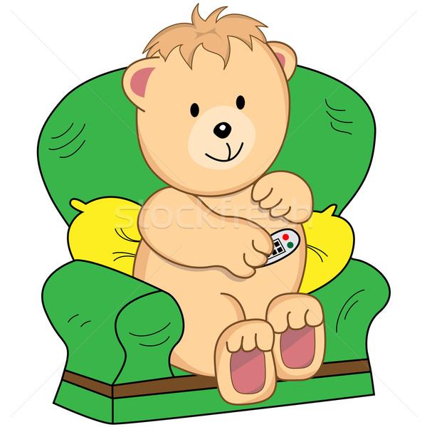 Beer fauteuil cartoon vergadering Stockfoto © toots
