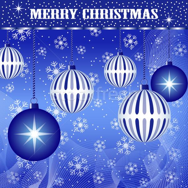Noël décoration bleu Noël scène Photo stock © toots