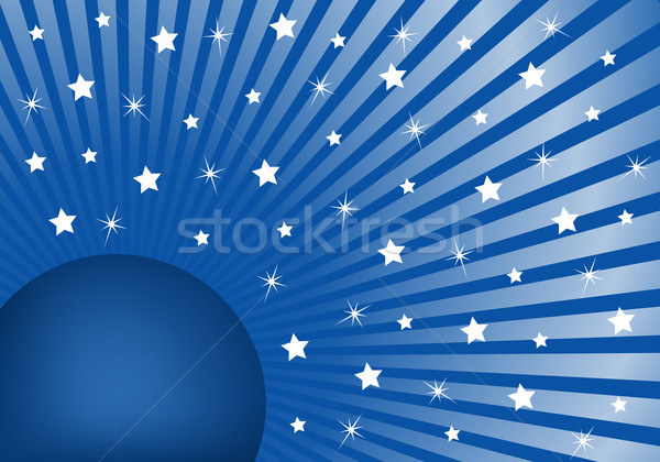 Résumé bleu blanche étoiles célébration Photo stock © toots