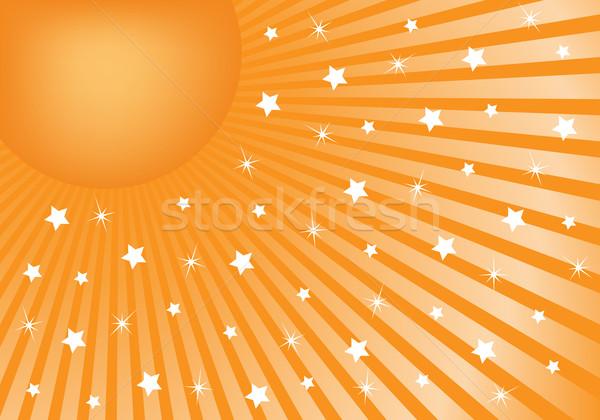 Abstract oranje witte sterren viering Stockfoto © toots