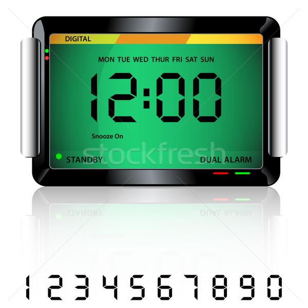Digital alarm clock green Stock photo © toots