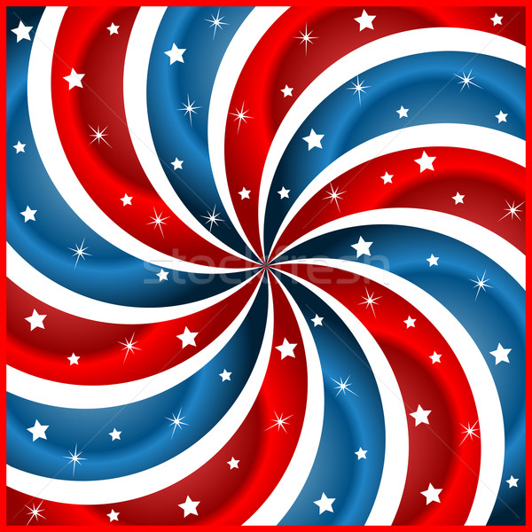 American flag stars and swirly stripes Stock photo © toots