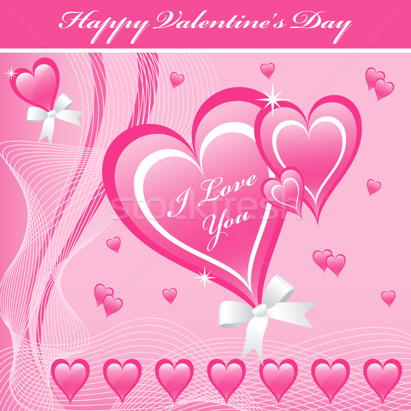 Valentine love hearts pink Stock photo © toots
