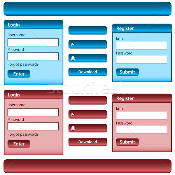 Web design elements Stock photo © toots