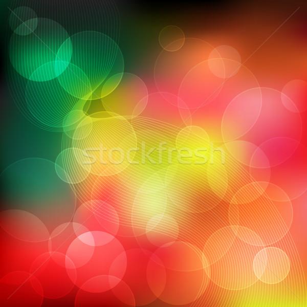 Abstract kleuren transparant gekleurd cirkels Stockfoto © toots
