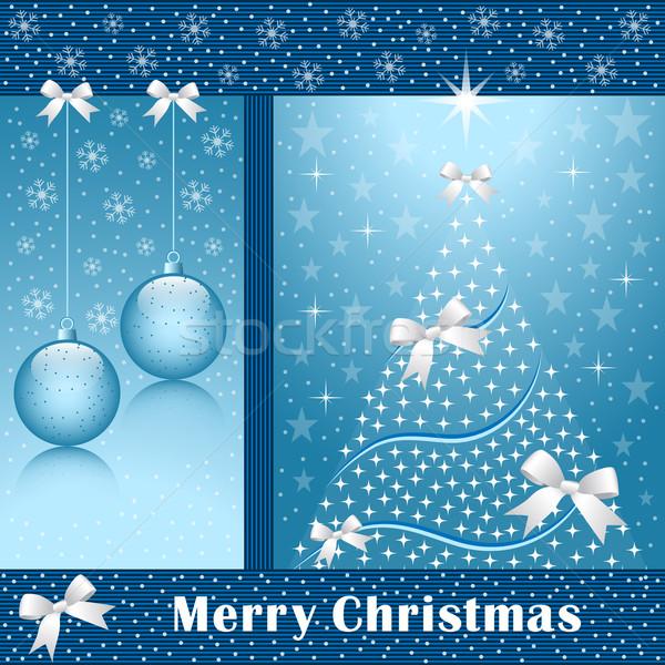 Noël arbre arcs arbre de noël étoiles Photo stock © toots