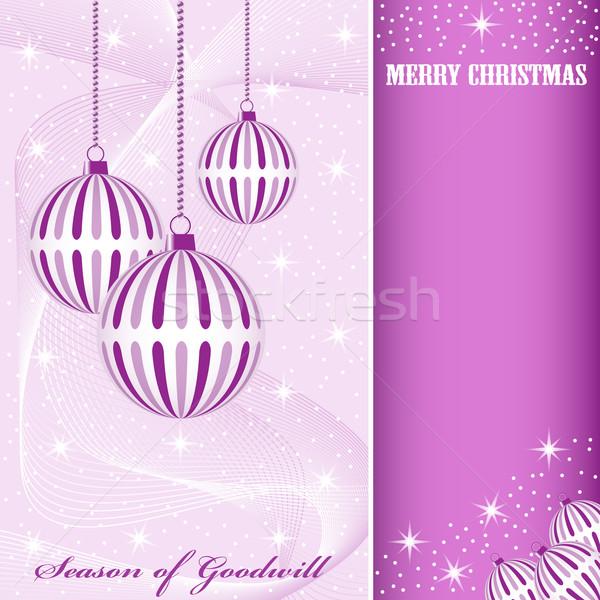 Noël décorations scène suspendu Photo stock © toots