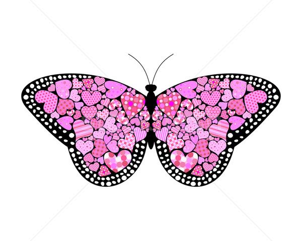 Borboleta asas coberto primavera floresta Foto stock © toponium