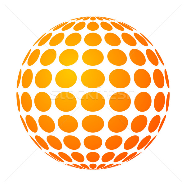 Pointillé soleil vecteur résumé fond silhouette Photo stock © toponium