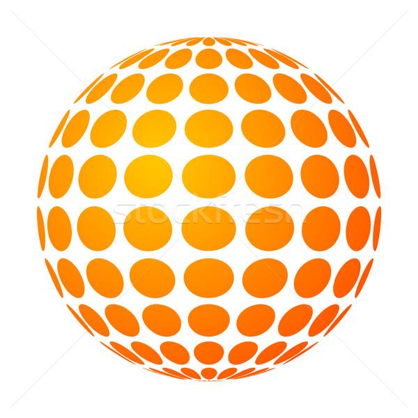 Pontilhado sol vetor abstrato fundo silhueta Foto stock © toponium