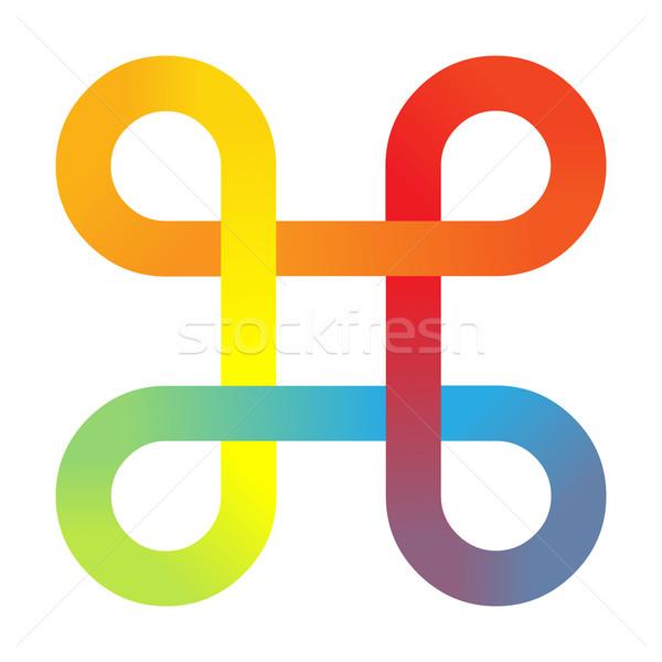 Logo renkli logo tasarımı simge sanat mavi Stok fotoğraf © toponium