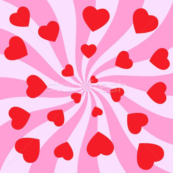 Kalpler girdap kırmızı sevmek mutlu güzellik Stok fotoğraf © toponium