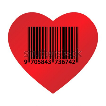 Coeur code grand rouge blanche papier Photo stock © toponium