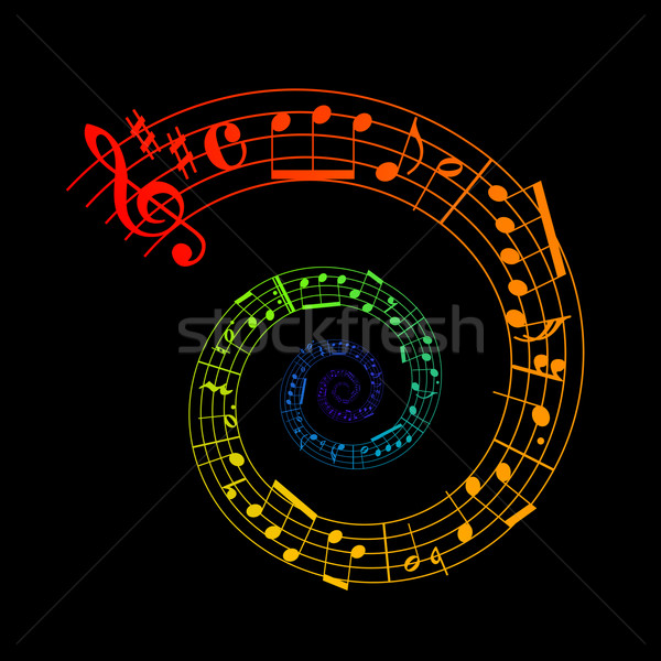 spiral sheet music Stock photo © toponium