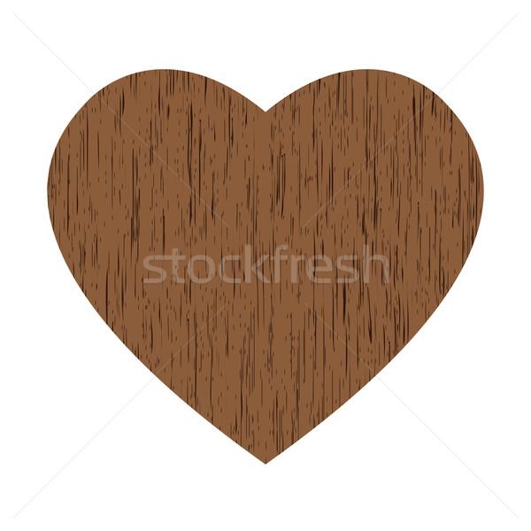 Coração grande marrom branco casamento Foto stock © toponium