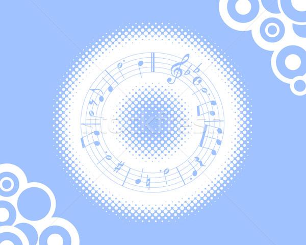 Música azul musical meio-tom arte violino Foto stock © toponium