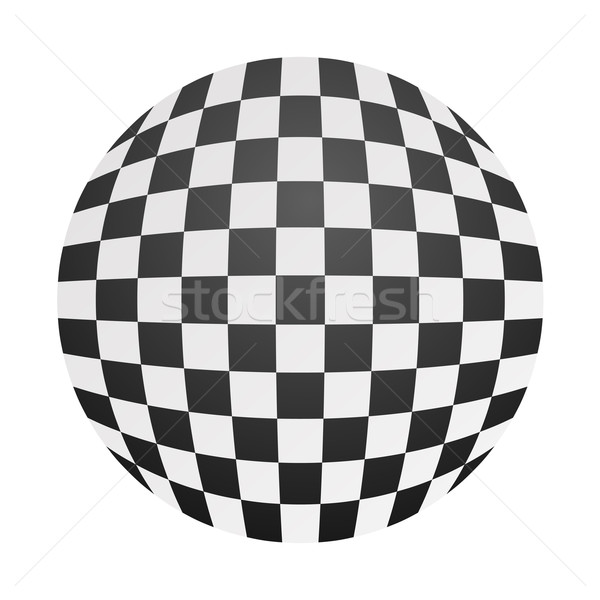 Tabuleiro de xadrez bola preto e branco textura globo arte Foto stock © toponium