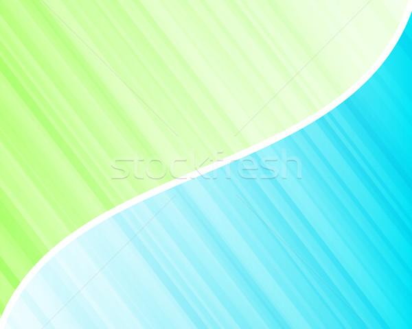 Rayé bleu vert design peinture Photo stock © toponium