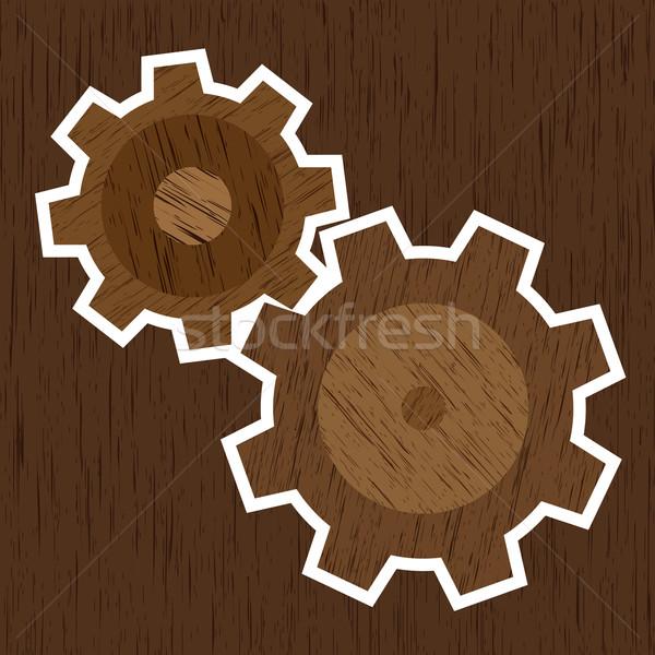 Rodas convés madeira abstrato natureza Foto stock © toponium