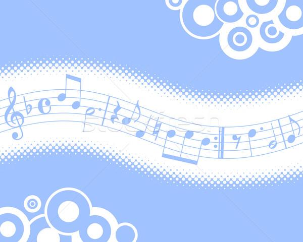 Müzik mavi müzikal yarım ton sanat keman Stok fotoğraf © toponium