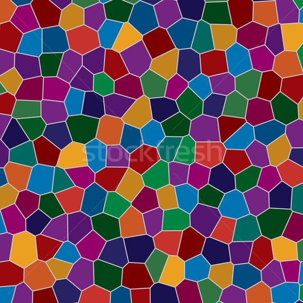 Cam mozaik renkli soyut dizayn arka plan Stok fotoğraf © toponium