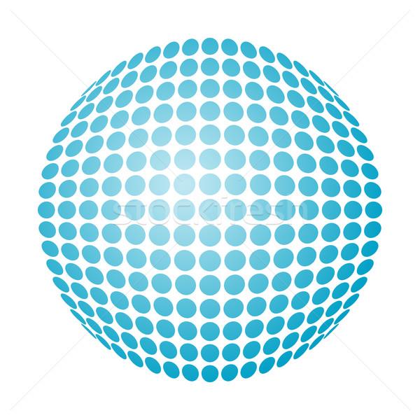 Pointillé boule de neige vecteur bleu gradient résumé Photo stock © toponium
