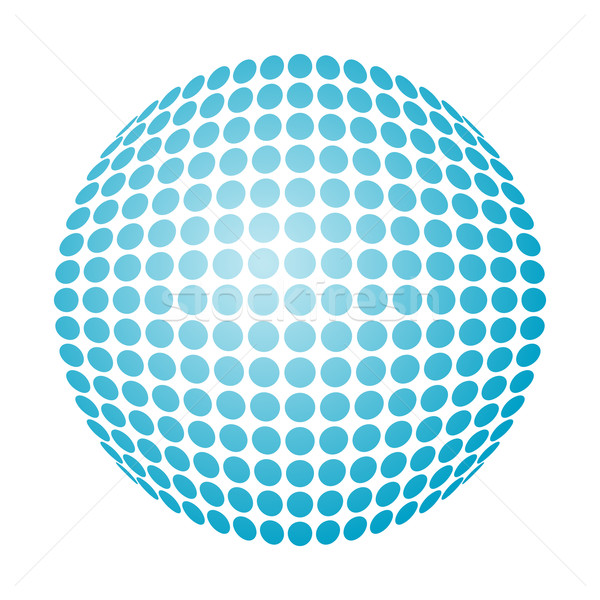 Pontilhado bola de neve vetor azul gradiente abstrato Foto stock © toponium