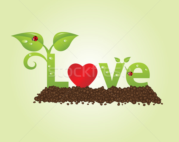 Sevmek büyük doğal stil Stok fotoğraf © toponium
