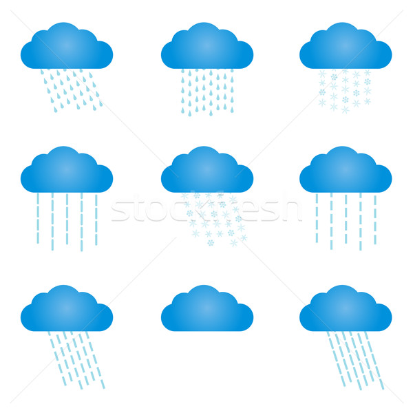Nuvens conjunto diferente céu Foto stock © toponium