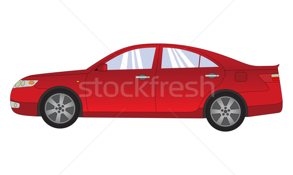 Carro detalhado ilustração vermelho rápido estrada Foto stock © toponium