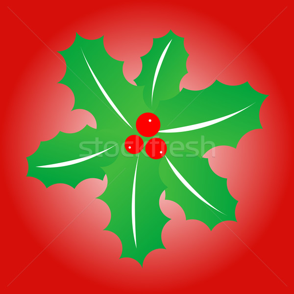 ökseotu basit yeşil kırmızı ağaç moda Stok fotoğraf © toponium
