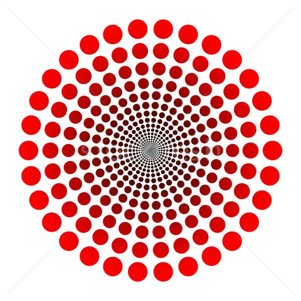 Logo vecteur pointillé tunnel rouge noir Photo stock © toponium