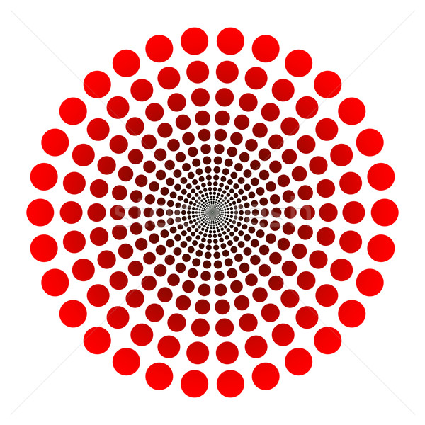 Logotipo vetor pontilhado túnel vermelho preto Foto stock © toponium