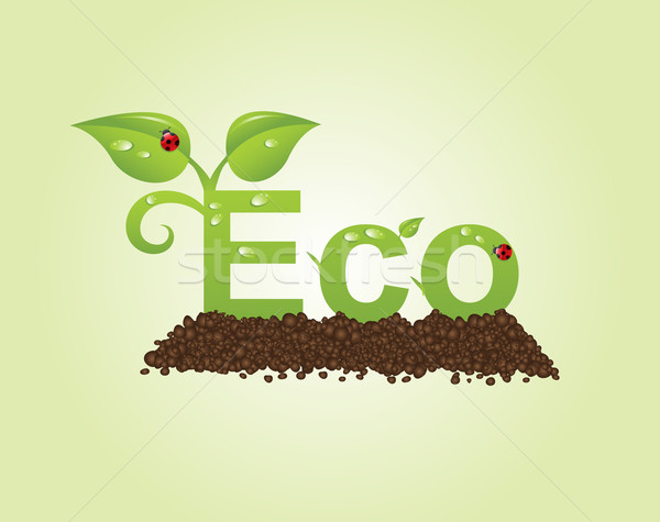 eco caption Stock photo © toponium