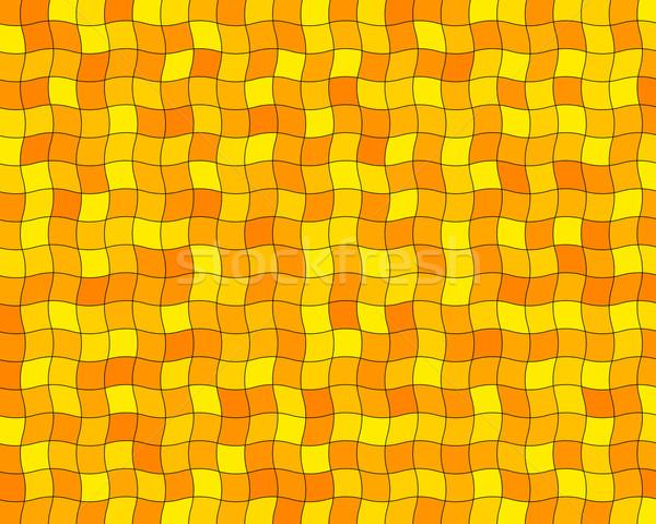 Orange tuiles aléatoire ondulés résumé design Photo stock © toponium