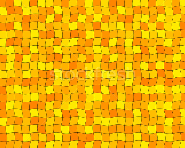 Laranja azulejos acaso ondulado abstrato projeto Foto stock © toponium