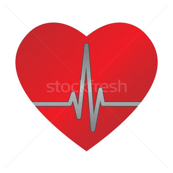 Coração grande vermelho gráfico médico Foto stock © toponium