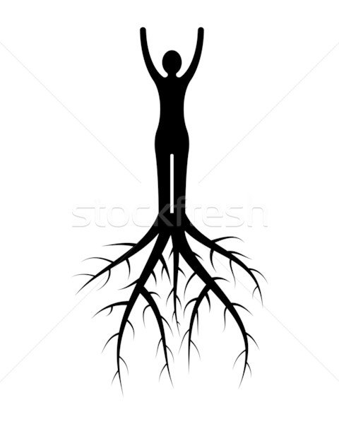 Stock photo: woman roots
