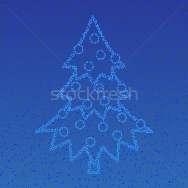Сток-фото: звезды · дерево · ночное · небо · рождественская · елка · красоту · пространстве