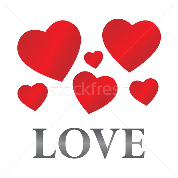 Listrado corações aço amor seis Foto stock © toponium