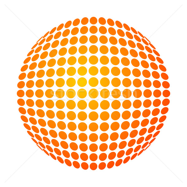 dotted sun Stock photo © toponium