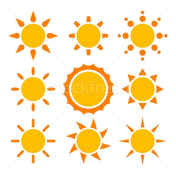 Güneş toplama farklı soyut gün batımı doğa Stok fotoğraf © toponium