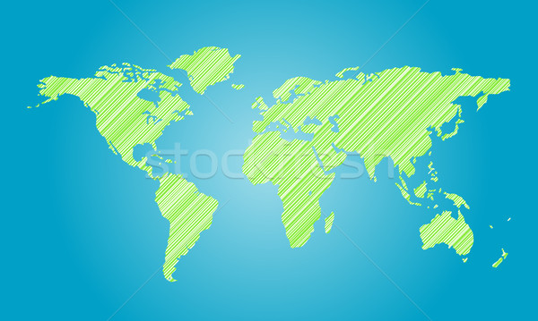 world map Stock photo © toponium