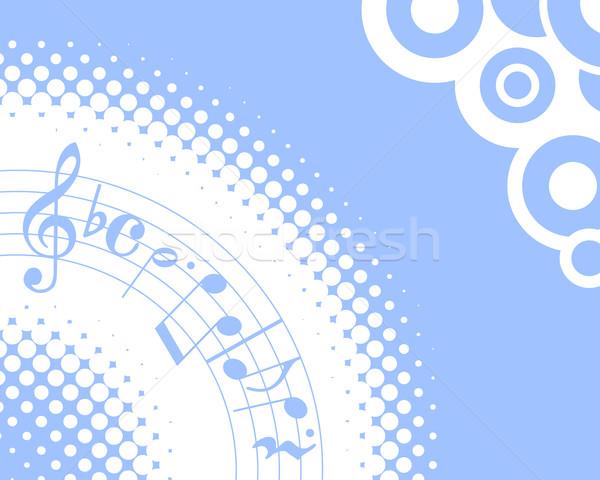 Сток-фото: музыку · синий · музыкальный · полутоновой · искусства · скрипки