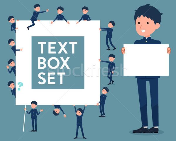 flat type school boy gakuran_text box Stock photo © toyotoyo