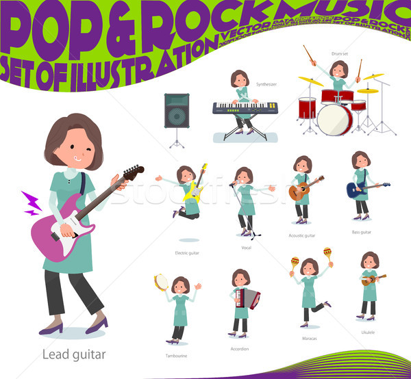 flat type tunic Middle women_pop music Stock photo © toyotoyo