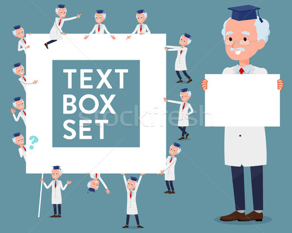 flat type Research Doctor old men_text box Stock photo © toyotoyo