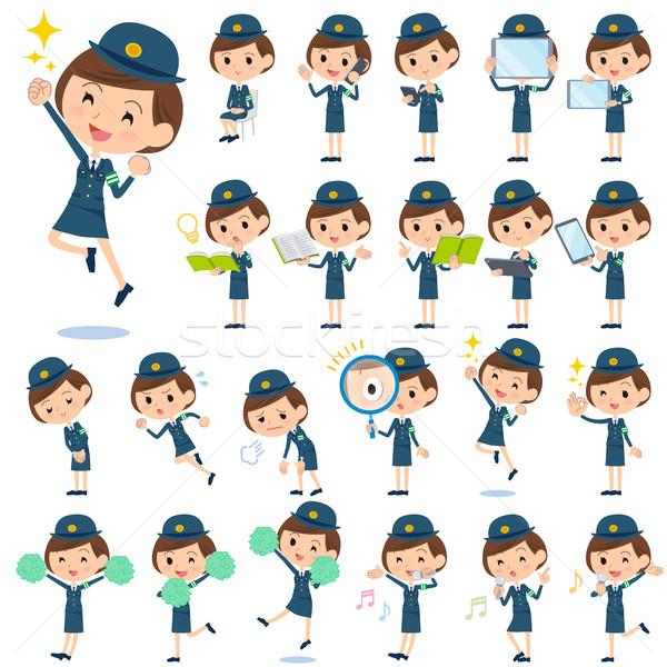 Stock photo: police Woman 2